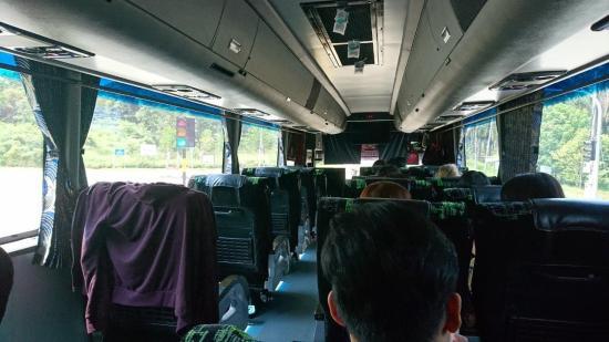 Bus interior - Singapore to Melaka (Malacca)