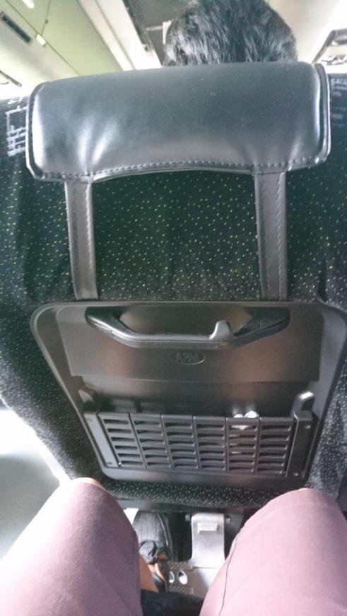 Leg room - Bus from Singapore to Melaka (Malacca)